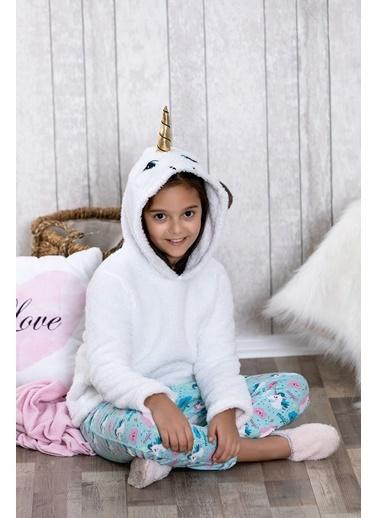 Lingabooms Wellsoft Kapüşonlu Unicorn 2'li Çocuk Pijama Takım  Pembe